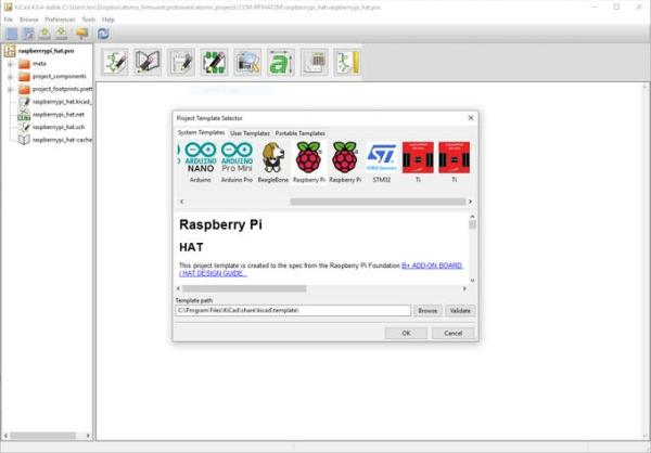 raspberry pi hat kicad template