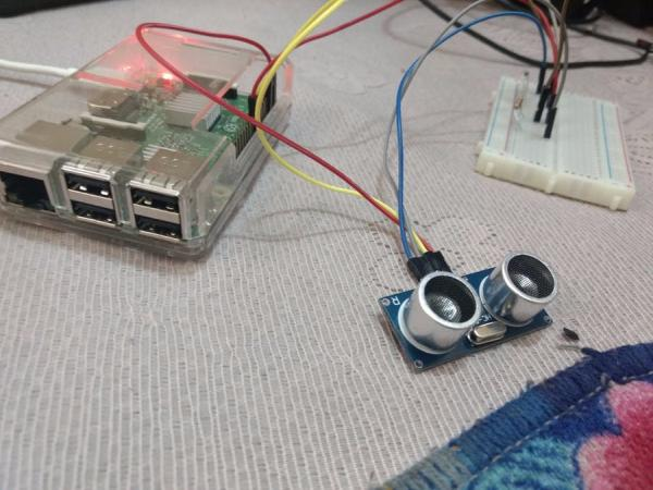 distance calculation with ultrasonic sensor