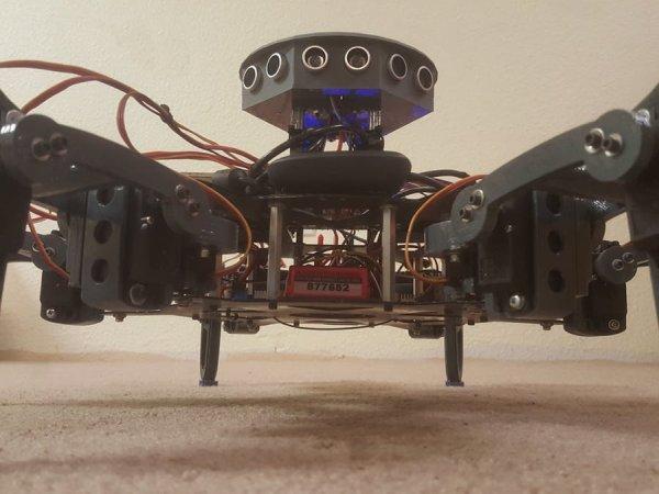 Hexapod using Inverse kinematics with a Raspberry PI 3 brain,