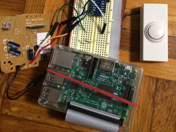 wireless doorbell on raspberry pi