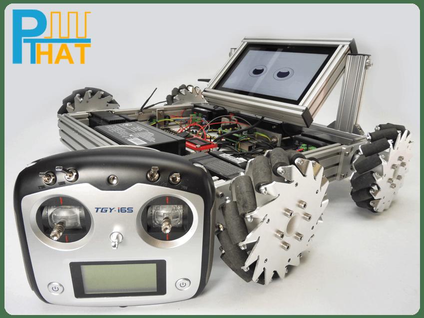 adding rc transmitter receiver to control mecanum bot