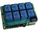 Stackable 8-relay add-on supports up to 64 relays per Raspberry Pi
