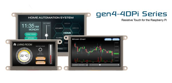 Gen 4D System LCD Touchscreen Display for the Raspberry