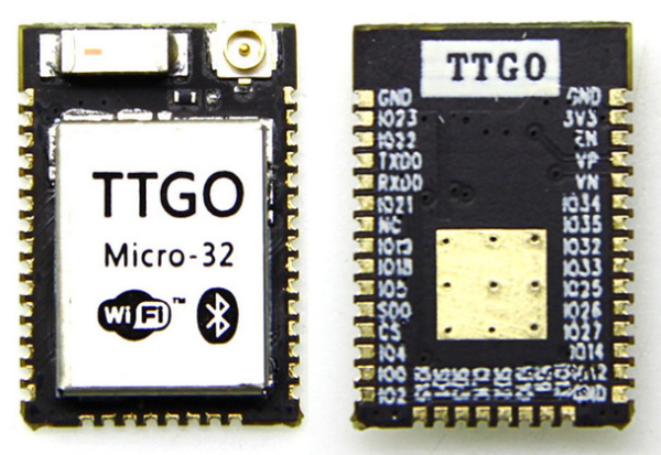 TTGO Micro-32 is a Module for ESP32-PICO-D4 SiP