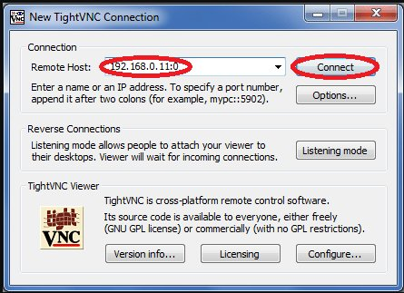 TightVNC client