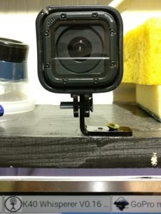 Completed GoPro shelf mount
