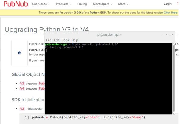 Installing-PubNub-Python-SDK-in-Raspberry-Pi