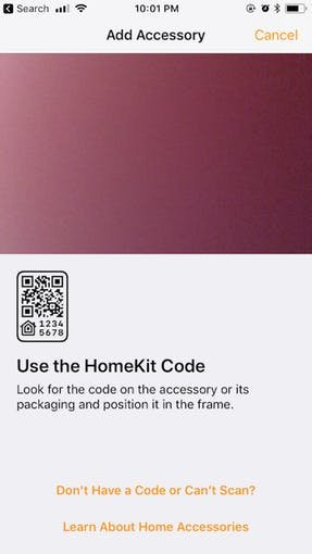 use the homekit code