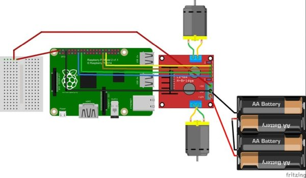Assemble the robot chassis Diagram