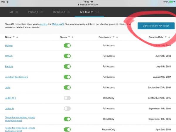 Generate new API Token