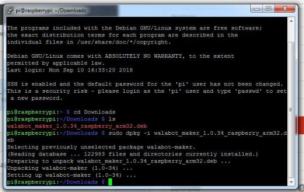 Installing Walabot SDK to Raspberry Pi