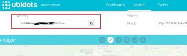 Note down your ubidots API Key