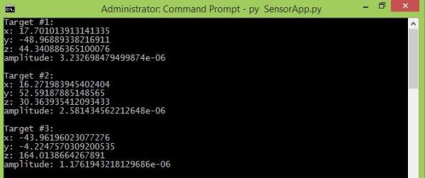 Samples of SensorTargets py