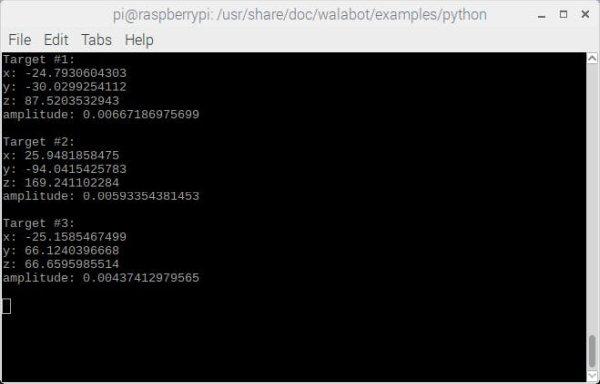 Target Detection w/ SensorApp.py