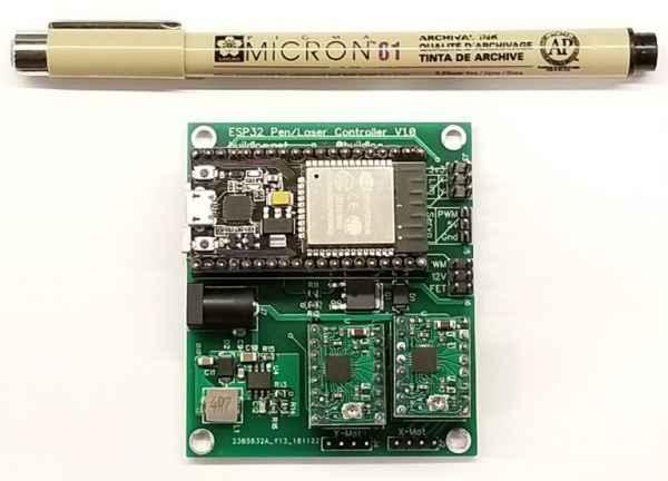 DIY Pen Laser Engraver ESP32 Controller