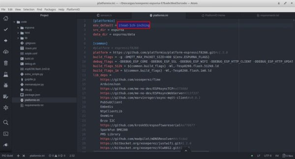 Set env_default = itead-1ch-inching