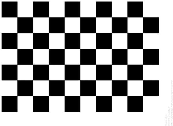 calibration checkerboard (OpenCV Docs)
