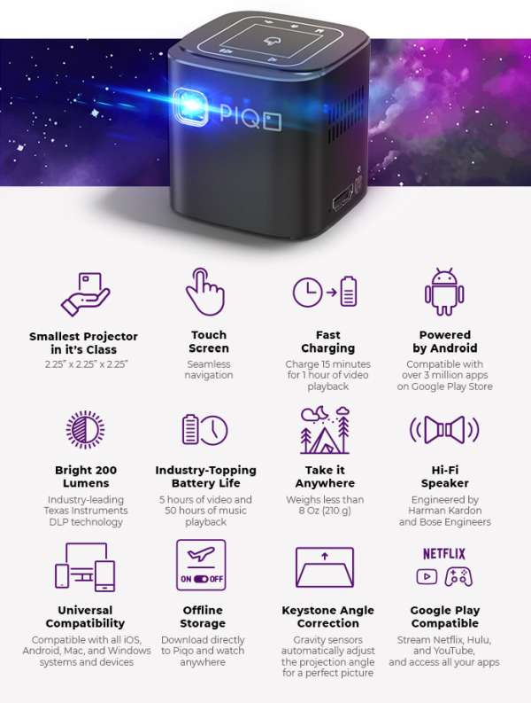 PIQO IS A SMALL BUT POWERFUL POCKET PROJECTOR 1