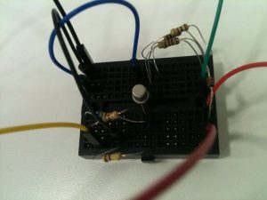 solenoid driver on the protoboard