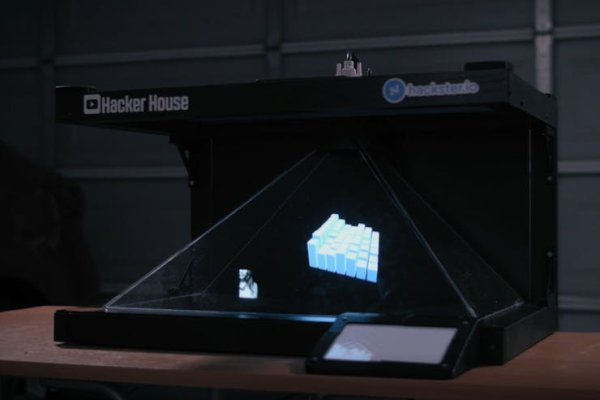 3D projection of an audio visualizer