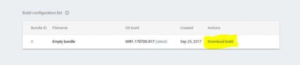 Build Configuration List