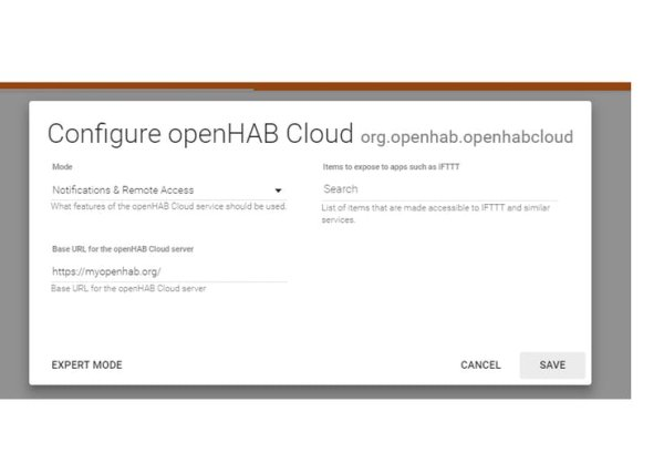 CONFIGURE openHAB Cloud