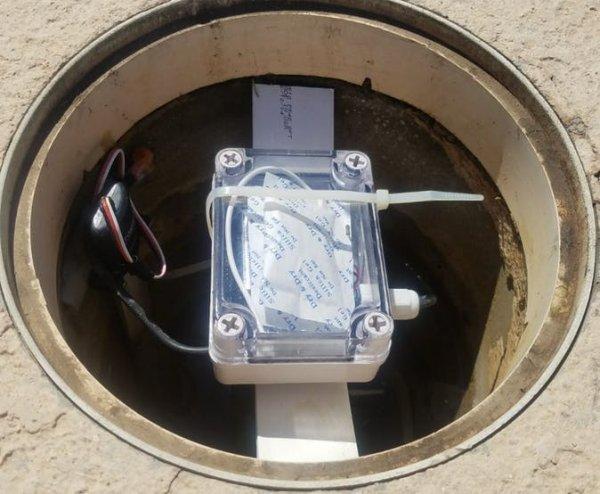 Completed eTape Sensor Install
