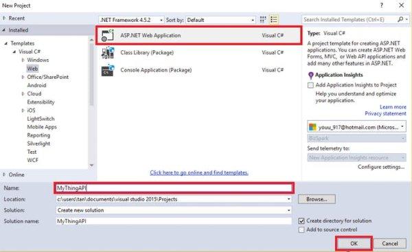 Create ASP NET