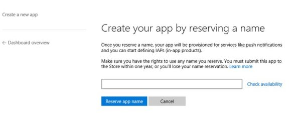 Create App by reserving