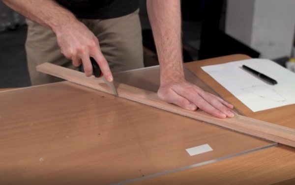 Score the acrylic sheet with a scoring tool