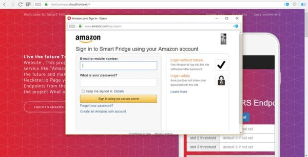 click login with amazon button