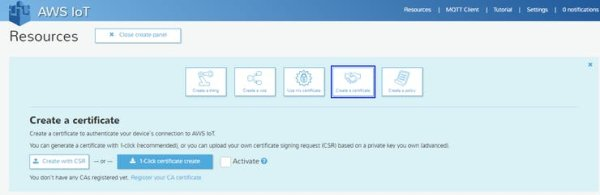 create a certificate with 1 click certificate and download all 3 certificates