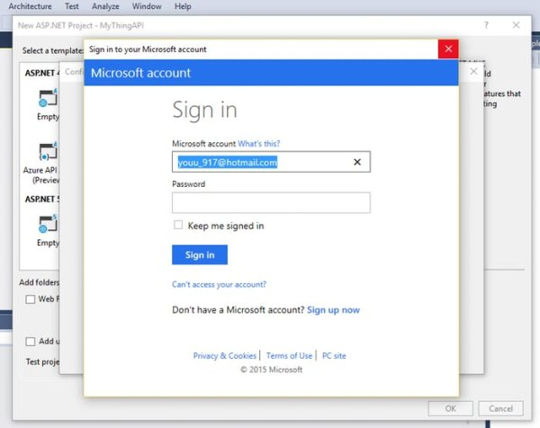 login to Microsoft Azure
