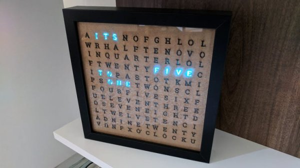 start displaying it turning on the right letters forming the time sentence