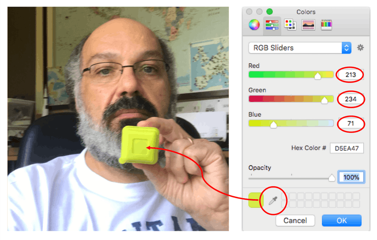 Color Detection in Python With OpenCV example