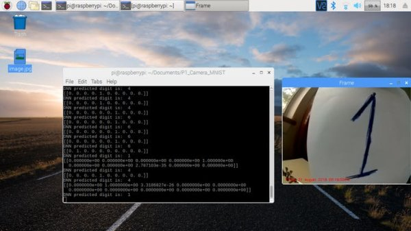 Recognizing Live Images of Digits 2