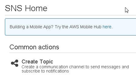 click Create Topic