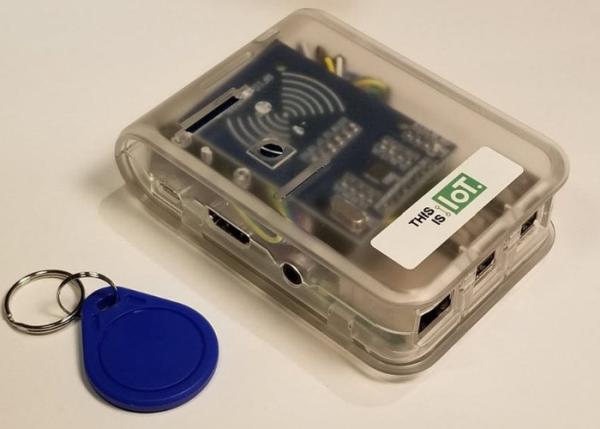 Raspberry Pi Blockchain RFID scanner