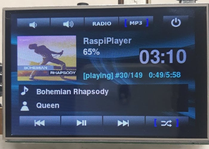 RaspiPlayer DIY Raspberry Pi MP3 music player