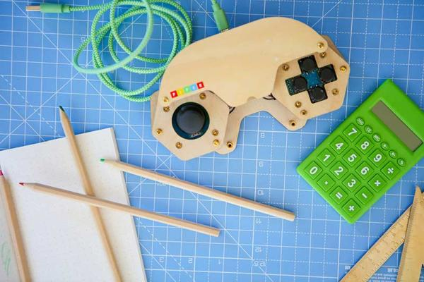 The Piper Command Center is a gaming controller your child can build and program