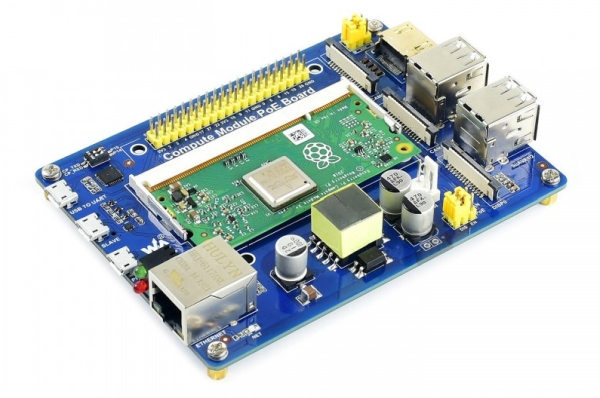 WAVESHARE RELEASES A COMPUTE MODULE IO BOARD WITH POE FEATURE