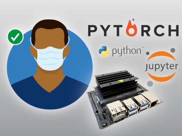 Audio-visual face mask detection system on the Jetson Nano
