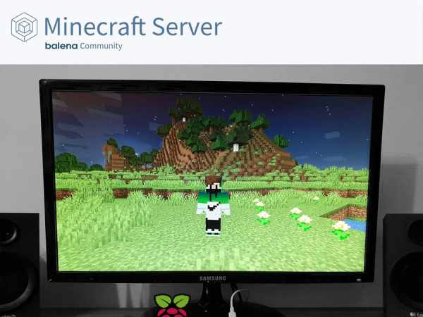 Create a Minecraft Server for the Raspberry Pi 4 with balena