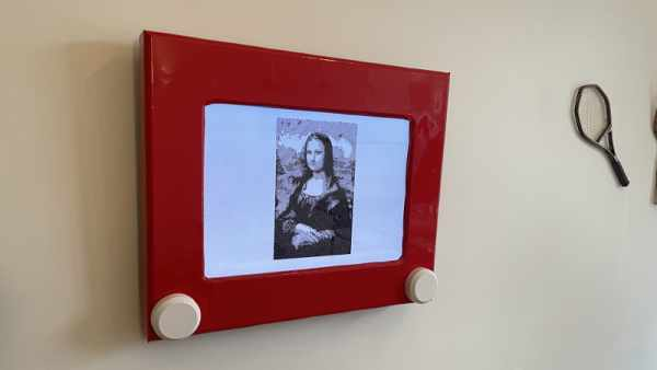 TV TURNED AUTOMATIC ETCH A SKETCH WITH RASPBERRY PI