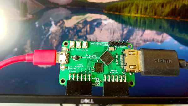 BITBANGED DVI ON A RASPBERRY PI RP2040 MICROCONTROLLER